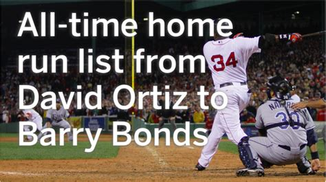all time home run list from david ortiz to barry bonds