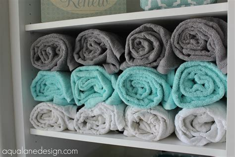 Bathroom Shelving Ideas For Towels a spa like master bathroom aqua lane design