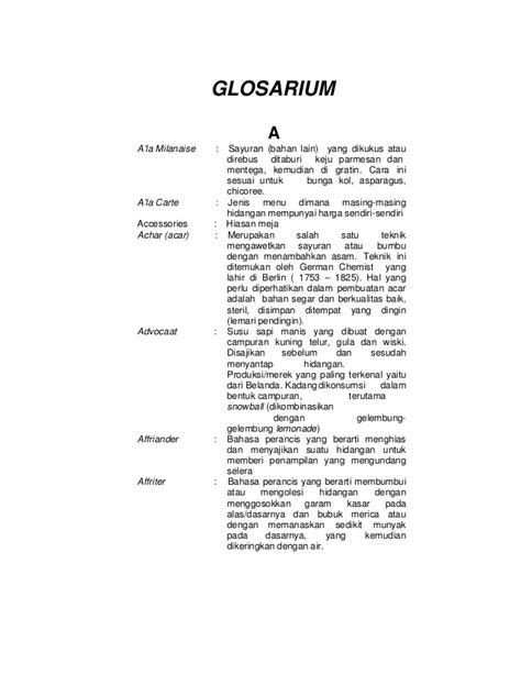 anisa nur avifah glosarium tata boga