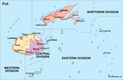 map of fiji fiji political map eps illustrator map our cartographers made fiji political map eps