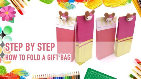 How To Fold Wrapping Paper Into A Bag - how to fold a paper gift bag step by step guide my