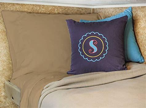 rv bed linens bunk size rv cer sheet set 28x75 cotton color camel