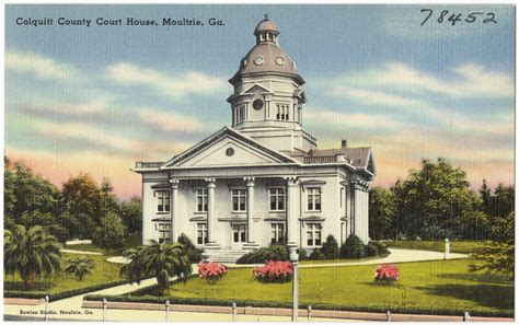 County Ga Court Search File Colquitt County Court House Moultrie Ga