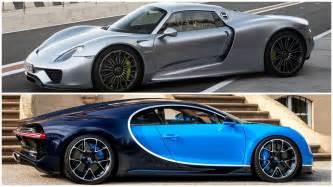 Porsche Vs Bugatti 2017 Bugatti Chiron Vs Porsche 918 Spyder