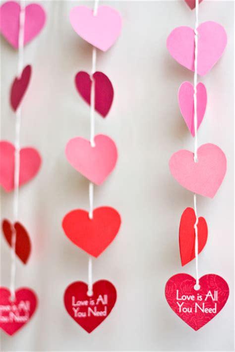 garland hearts paper garland s day diy evermine