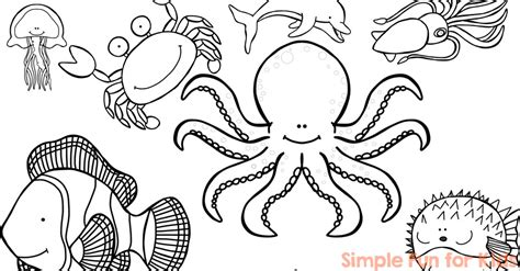 coloring page ocean animals draw ocean coloring pages 93 for print with coloring