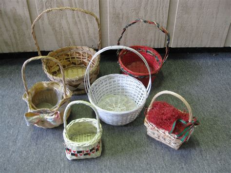 gift for home decoration lot of 6 wicker baskets home decor gift baskets ebay