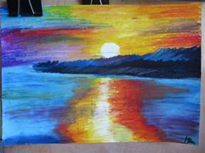 drawing landscapes with oil pastels drawing sketch library