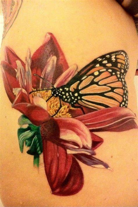 pretty butterfly tattoos a beautiful butterfly and flower based on a