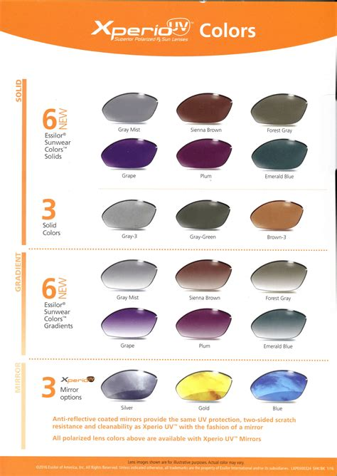 color of protection prescription lens materials tints and coating options a