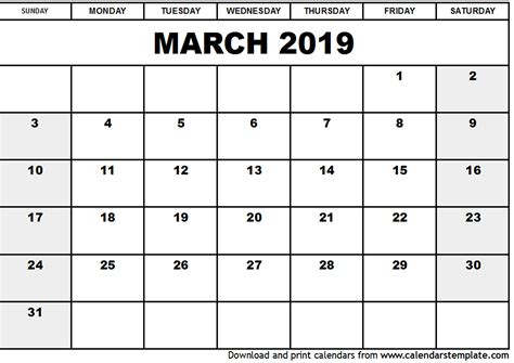 printable calendar april 2018 to march 2019 march 2019 calendar template 2018 calendar printable
