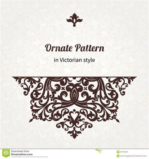 svg pattern not working vector vintage pattern in victorian style stock vector