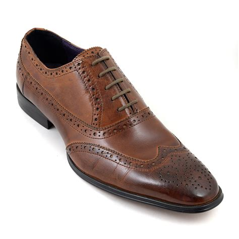 oxford shoes or brogues buy mens brown oxford brogue shoes gucinari style