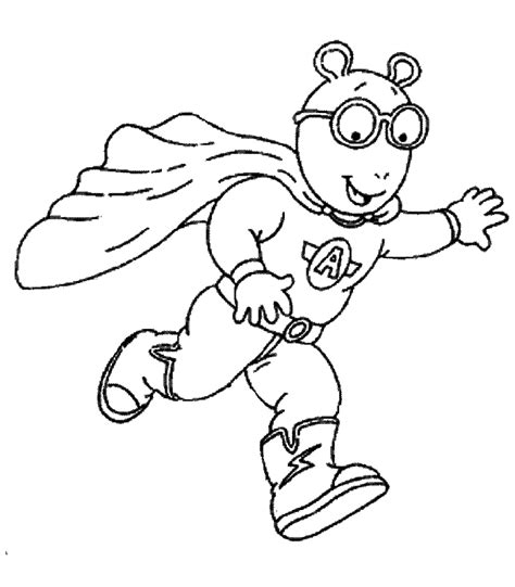 Arthur Halloween Coloring Pages Coloring Arthur Colouring Pages
