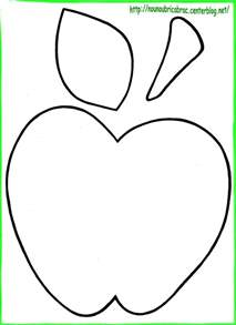 Apple Template by šablona Jablko Ovoce A Zelenina Apples