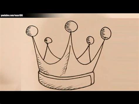 simple king crown drawing