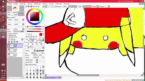 paint tool sai speed drawing pikachu drawing speed drawing trying paint tool sai