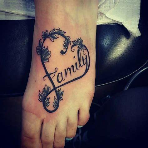 family tattoo foot love my new tattoo family foot elegant tattoo