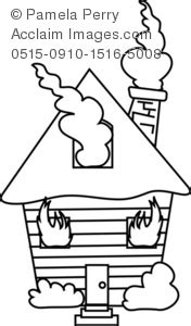 coloring page of house on fire house on fire clipart black and white www pixshark com