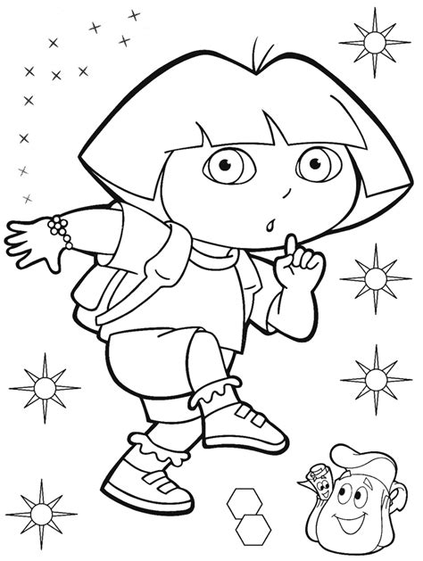 popular character free coloring activity ドーラ dora のぬ