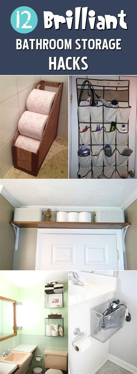 clever bathroom storage ideas 25 best ideas about hacks on