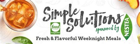 Foodnetmag Sweepstakes - food network magazine simple solutions sweepstakes