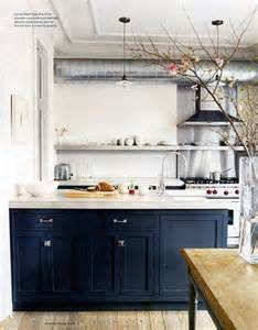 navy kitchen cabinets on the bottom and white or
