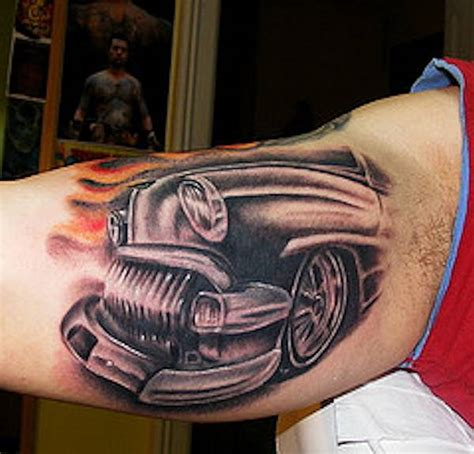 automotive tattoos photo gallery rod car and truck tattoos