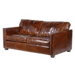 Brown Leather Sofa Uk Magnus Brown Leather Sofa 2 Seater