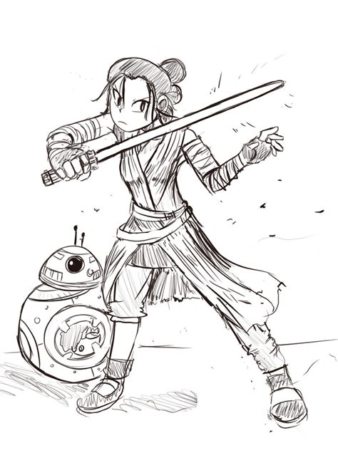 coloring pictures of rey from star wars a star wars rey for today by minionking on deviantart