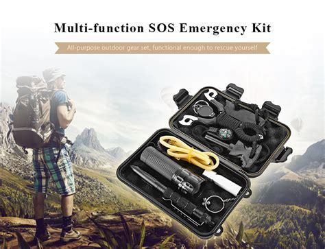 Survival Kit Outdoor Tactical Multi Tools B9 sos emergency survival equipment kit outdoor gear tool