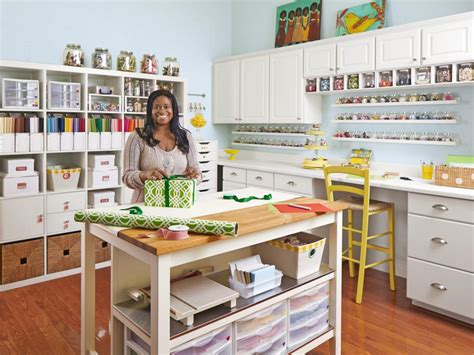 Diy Sewing Room Ideas by Craft And Sewing Room Storage And Organization Hgtv