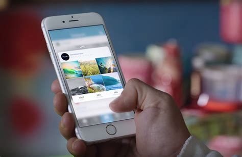 apple airs iphone 6s ad with focus on 3d touch peek and pop