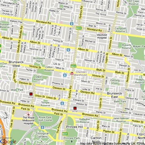 map of brunswick hotels accommodation