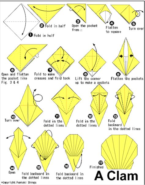 Origami Fish Directions - origami