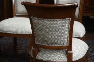 Details about mahogany dining room chairs with upholstered back