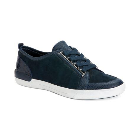 womens sneakers calvin klein s tanita sneakers in blue indigo lyst