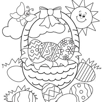 Free Printable Coloring Pages Trading Easter Basket Free N Fun Easter From Oriental Trading by Free Printable Coloring Pages Trading
