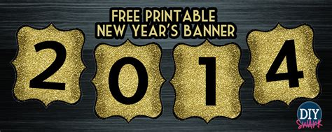 printable new years banner happy new year banner free printable diy swank