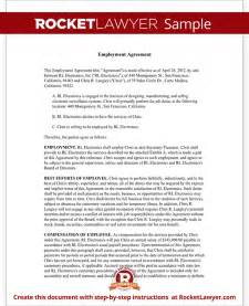 Executive Employment Agreement Template Executive Employment Agreement Contract Template With Sample