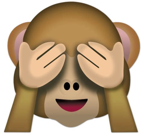 imagenes del emoji del mono vinilo decorativo mono que no quiere ver