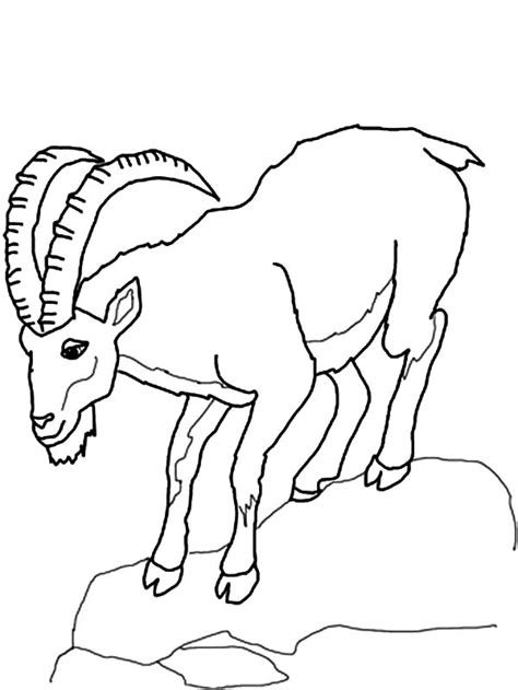coloring pages mountain goat mountain goat climb down hill coloring pages color luna
