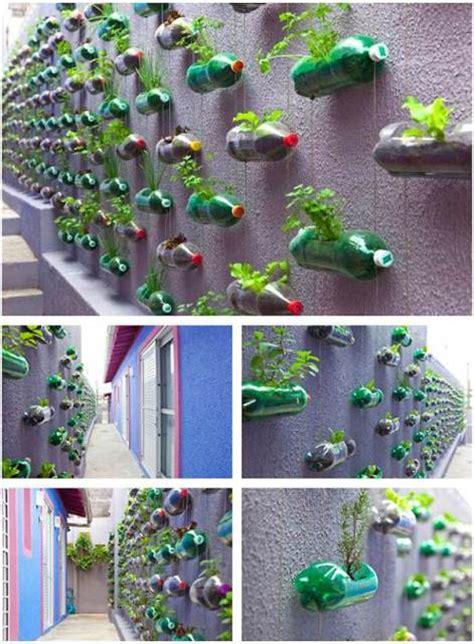 reuse  plastic bottles   garden creatively