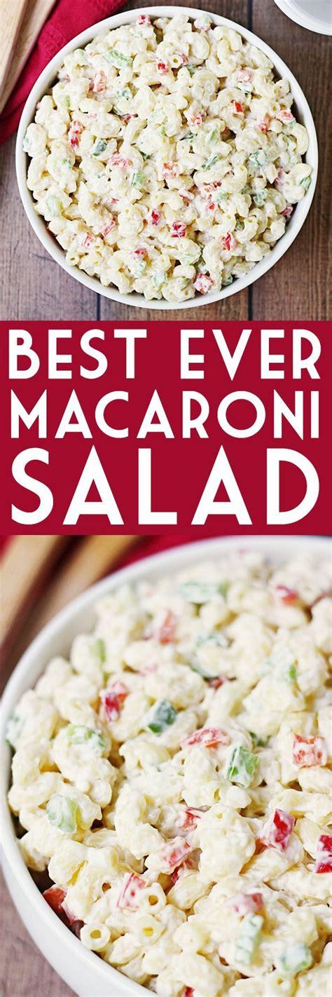best ever creamy macaroni salad salads pinterest 25 best ideas about creamy macaroni salad on pinterest