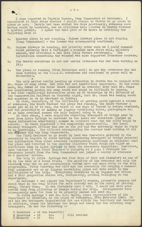 Commitment Letter Northern Territory World War Ii And Australia Darwin State Records Nsw