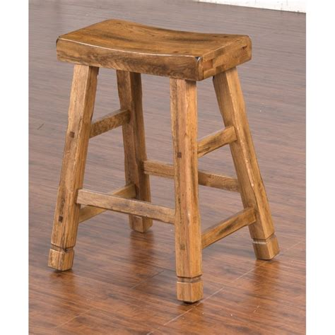 oak saddle bar stools sunny designs sedona 24 quot saddle seat counter stool in