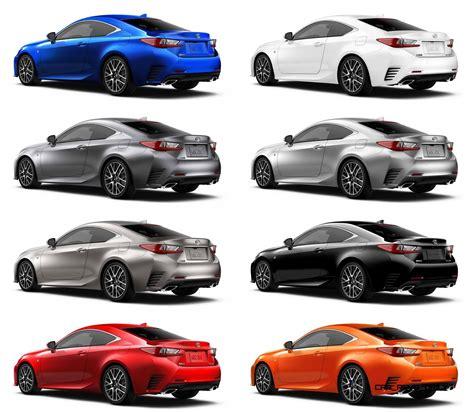 lexus colors 2015 lexus rc350 colors visualizer f sport vs standard