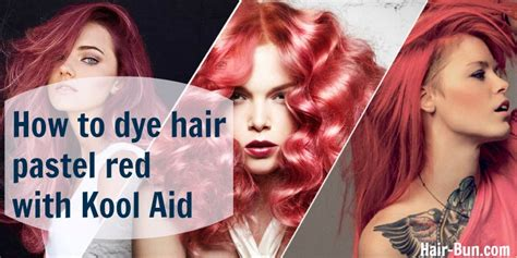 how to dye tips of hair with red kool aid for black hair how to dye hair pastel red with kool aid