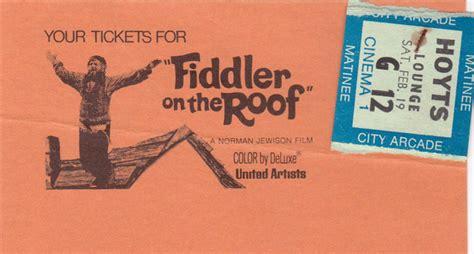 cinema on the roof cinema 1 fiddler on the roof ticket cinema treasures