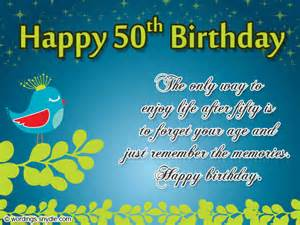 50th birthday wishes messages and 50th birthday card